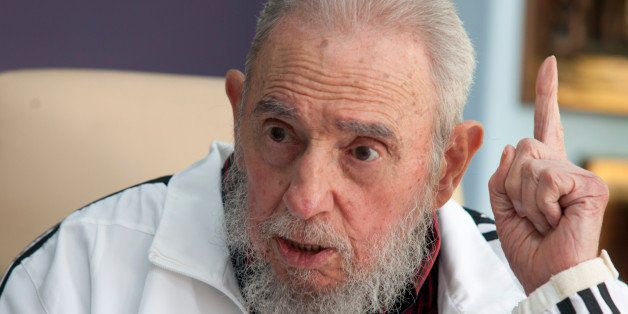 FILE - In this July 11, 2014 file photo, Cuba's Fidel Castro speaks during a meeting with Russia's President Vladimir Putin,