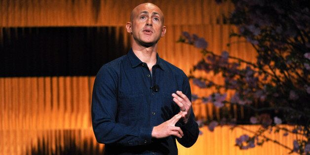 NEW YORK, NY - APRIL 24:  (EXCLUSIVE COVERAGE) Andy Puddicombe speaks on stage during THRIVE: A Third Metric Live Event at Ne