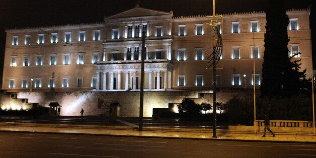 ATHENS, GREECE - JANUARY 28: New Greek government of anti-austerity Syriza party removes the barricades which were set up aga