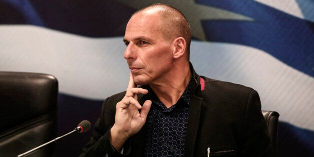 Yanis Varoufakis, Greece's incoming finance minister, attends the handover ceremony in Athens, Greece, on Wednesday, Jan. 28,