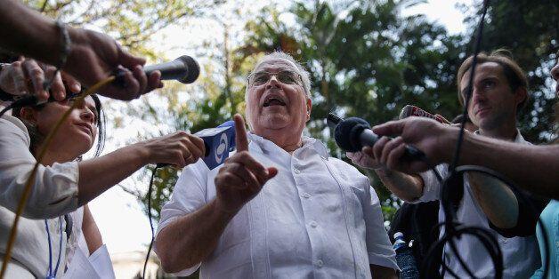 HAVANA, CUBA - JANUARY 23:  Elizardo Sanchez, head of the banned but tolerated Cuban National Human Rights Commission, talks