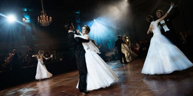 LONDON, ENGLAND - NOVEMBER 02:  Young mainly Russian debutantes make their first performance before the assembled audience in
