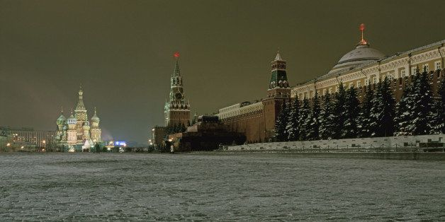 Russia, Moscow, Red Square and Kremlin by night