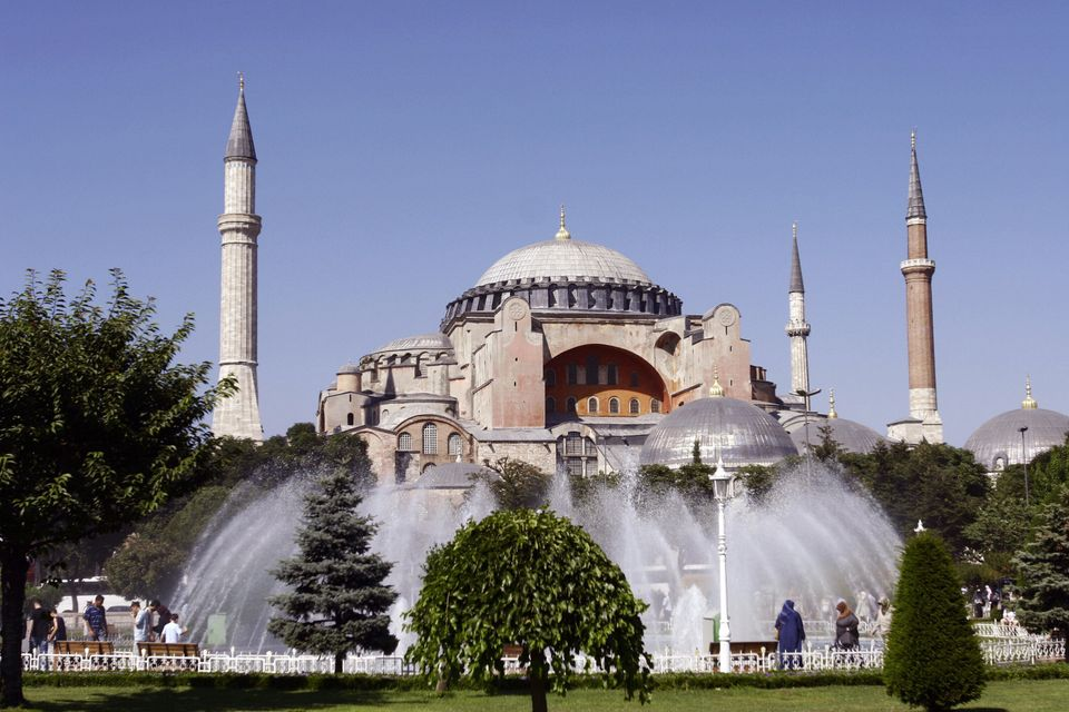 Istanbul's Hagia Sophia was a former Orthodox patriarchal basilica before being converted to a mosque, but is now a museum si