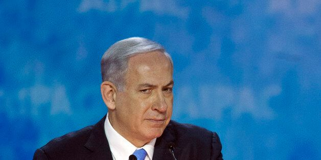 Israeli Prime Minister Benjamin Netanyahu addresses the 2015  American Israel Public Affairs Committee (AIPAC) Policy Confere