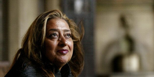 Pritzker Architecture Prize winner for 2004 Zaha Hadid poses Sunday, March 14, 2004, in West Hollywood, Calif. Hadid, an Iraq