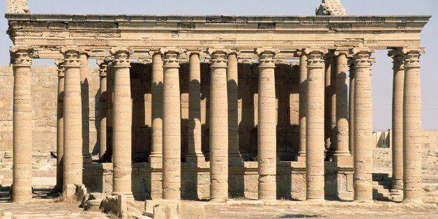 IRAQ - DECEMBER 17: The Great Temple of Hatra (Unesco World Heritage List, 1985), Iraq. Persian civilisation, AD 80. (Photo b