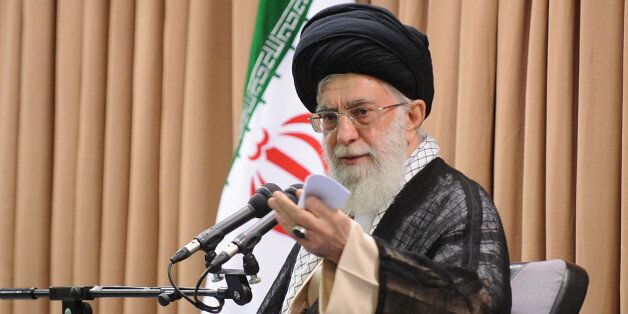 TEHRAN, IRAN - JULY 8:  Supreme Leader of Iran Ayatollah Ali Khamenei, gives a speech on the meeting in Tehran, Iran on 8 Jul