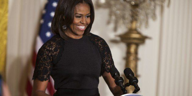 WASHINGTON, DC - MARCH 11: First Lady Michele Obama hosts an event to commemorate the beginning of Nowruz in the East Room of