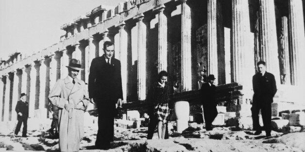 GREECE - APRIL 03:  The Dr Goebbels Visiting The Acropolis At Athen In Greece Europe On April 3Rd 1939  (Photo by Keystone-Fr