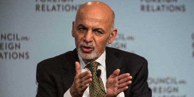 NEW YORK, NY - MARCH 26:  Ashraf Ghani, President of Afghanistan, speaks at the Council On Foreign Relations on March 26, 201