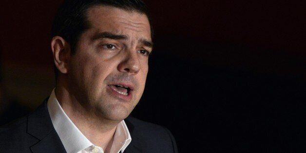 Greek Prime Minister Alexis Tsipras delivers a speech at Athens University entitled 'The Greek Revolution as European Fact' o
