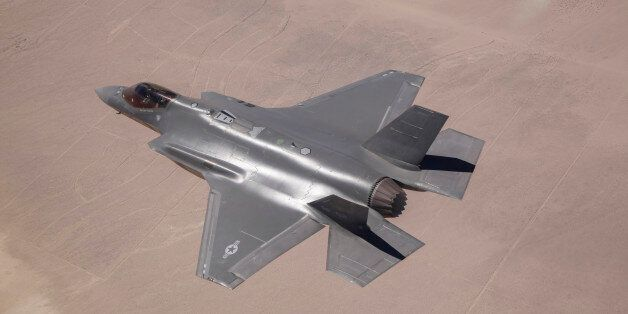 June 11, 2014 - An AF-2, the second production F-35 Lightning II of the U.S. Air Force, flies over Edwards Air Force Base, Ca