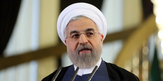 Iranian President Hassan Rouhani speaks during a press conference in Tehran on April 3, 2015. Iran vowed to stand by a nuclea