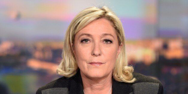 ALTERNATIVE CROP French far-right leader and Front National party president, Marine Le Pen is pictured prior to speaking dur