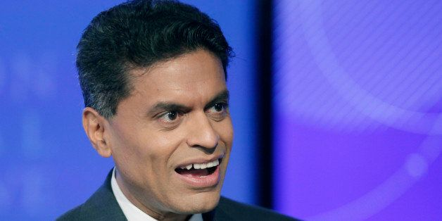 Fareed Zakaria, a journalist with CNN, attends the Clinton Global Initiative, Monday, Sept. 24, 2012 in New York. (AP Photo/M