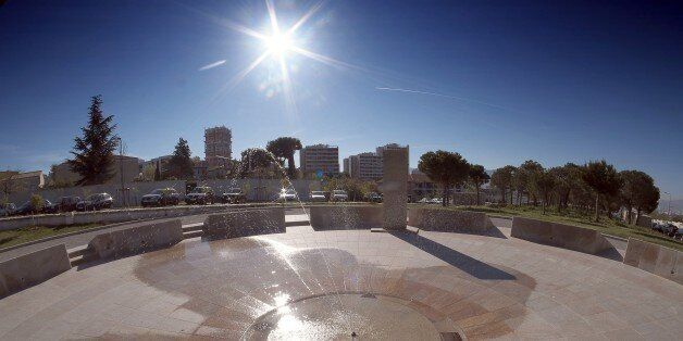 A general view taken on April 14, 2015 shows the Armenian Genocide memorial in the southern French city of Marseille. The 100