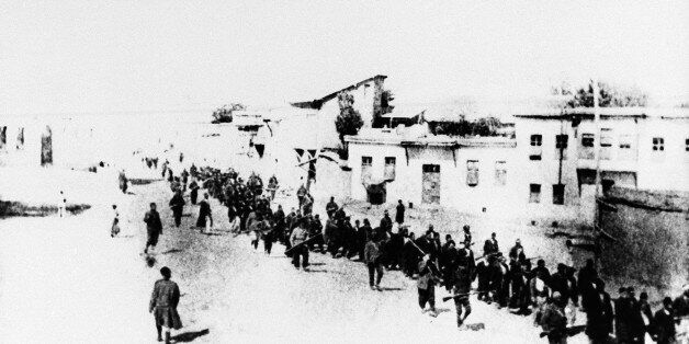 FILE - This is the scene in Turkey in 1915 when Armenians were marched long distances and said to have been massacred. The U.