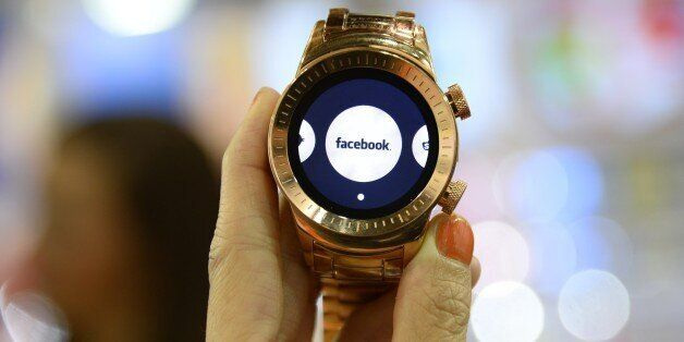 A Burg smartwatch is seen at the Consumer Electronics Show in Las Vegas Nevada January 7, 2015.   The 3G touchscreen Burg sma