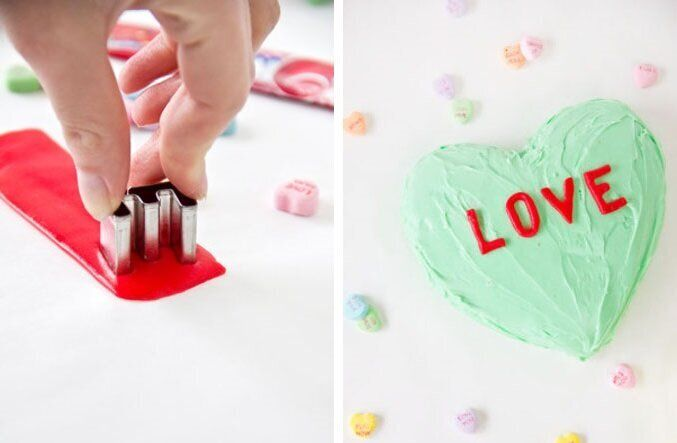 Birthday cake messages don't always have to be done in icing. For a fun twist, try making them using chewy Airheads candy and
