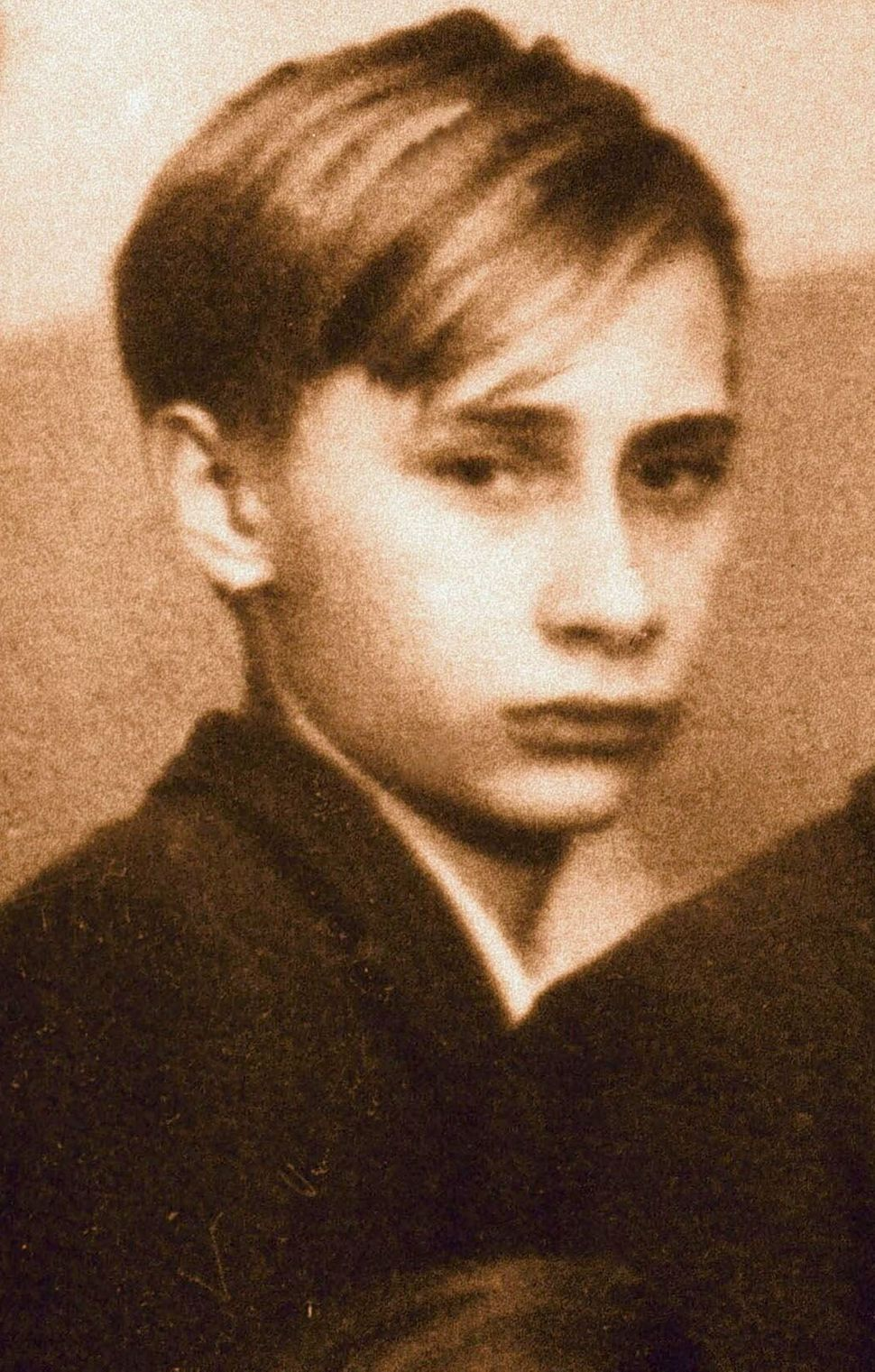 A class photo with Vladimir Putin, dated 1966, in St. Petersburg, Russia.