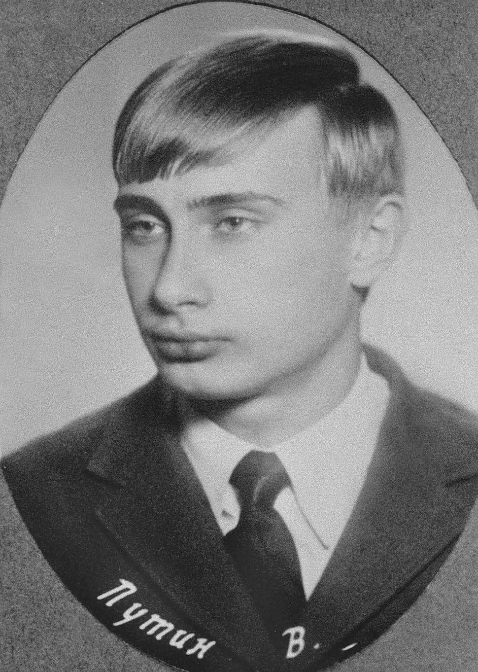 Vladimir Putin in Saint Petersburg, Russia, 1970.