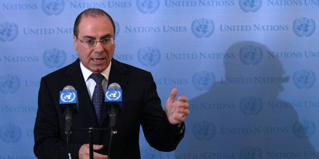 NEW YORK, NY - FEBRUARY 14:  Israeli Vice Prime Minister Silvan Shalom holds a press conference after meeting with UN General