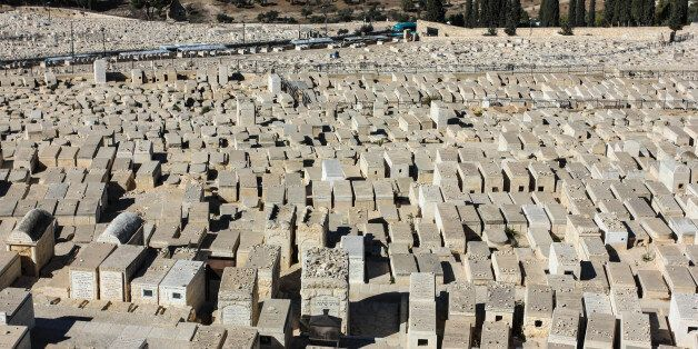 Jewish cemetery at the Mount of Olives in Jerusalem
