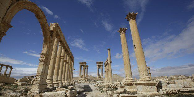 A picture taken on March 14, 2014 shows a partial view of the ancient oasis city of Palmyra, 215 kilometres northeast of Dama