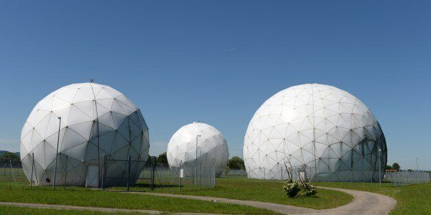 Radomes of the former monitoring base of the US intelligence organization National Security Agency (NSA) in Bad Aibling, sout
