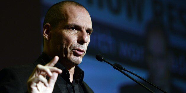 Greek finance minister Yianis Varoufakis speaks during the Economist conference entitled 'Europe: The comeback ? Greece: How