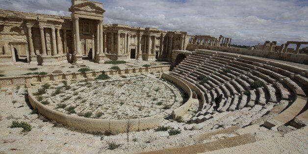 A picture taken on March 14, 2014 shows a partial view of the theatre at the ancient oasis city of Palmyra, 215 kilometres no