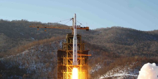 In this Dec. 12, 2012 photo released by Korean Central News Agency, North Korea's Unha-3 rocket lifts off from the Sohae laun