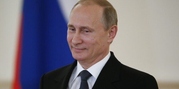 Russia's President Vladimir Putin attends a ceremony of receiving diplomatic credentials from foreign ambassadors at the Krem
