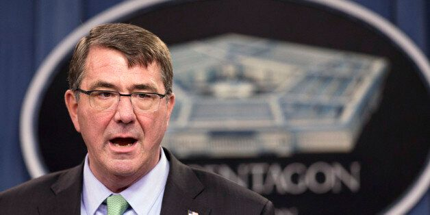 FILE - In this May 1, 2015 file photo, Defense Secretary Ash Carter speaks during a news conference at the Pentagon in Washin