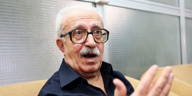 FILE - In this Sept. 5, 2010 file photo, Tariq Aziz, Saddam Hussein's long time foreign minister, speaks to the Associated Pr