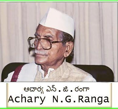 Inspired by Gandhi's call in 1930, Acharya N.G.Ranga joined the freedom struggle, and led the riot agitation in 1933. Conside