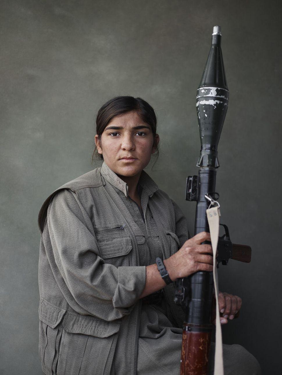Sarya with RPG, PKK, Makhmour, Iraq.
