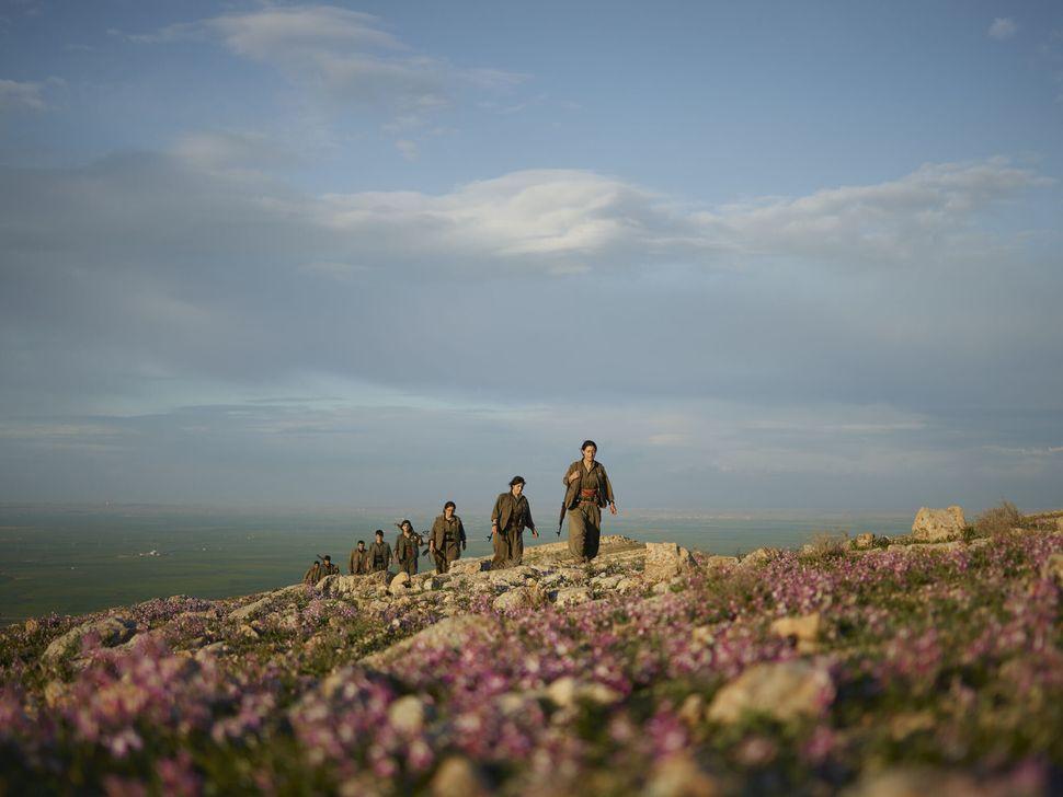 Kurdistan Workers' Party (PKK) Guerrillas Patrol Makhmour Countryside, Iraq.