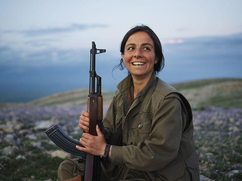 Berivan, PKK Commander, Makhmour, Iraq.