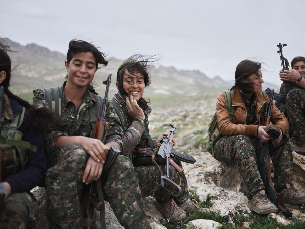 Women of the Shingal Resistance Unit, Sinjar Mountain, Iraq