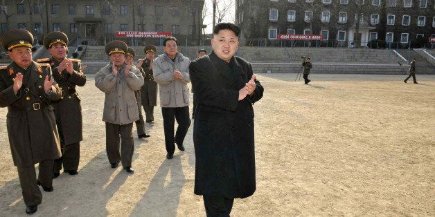 This undated picture released from North Korea's official Korean Central News Agency (KCNA) on January 12, 2014 shows North K