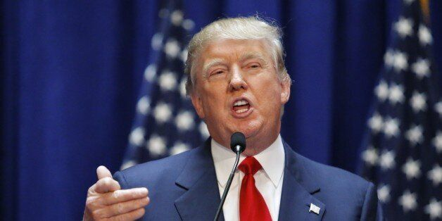 Real estate mogul Donald Trump announces his bid for the presidency in the 2016 presidential race during an event at the Trum