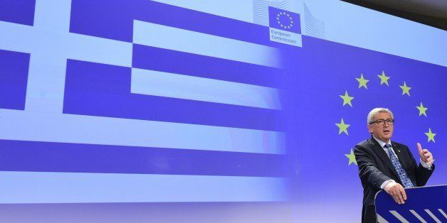 European Commission President Jean-Claude Juncker gives a  press conference on Greece at the EU headquarters in Brussels on J