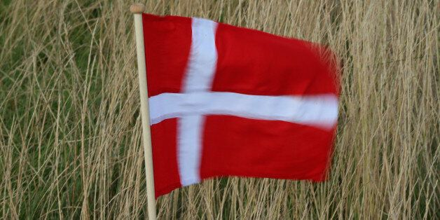 AALBORG, DENMARK - AUGUST 15:  A slow-motion photograph of a Danish flag blowing in the wind during the second round of the M