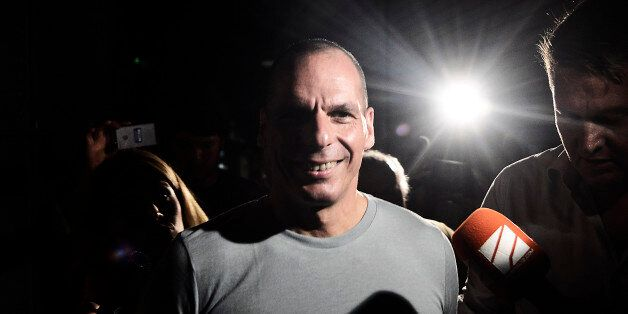 ATHENS, GREECE - JULY 05:  Greek Finance Minister Yanis Varoufakis leaves his office as Greek voters are expected to vote no