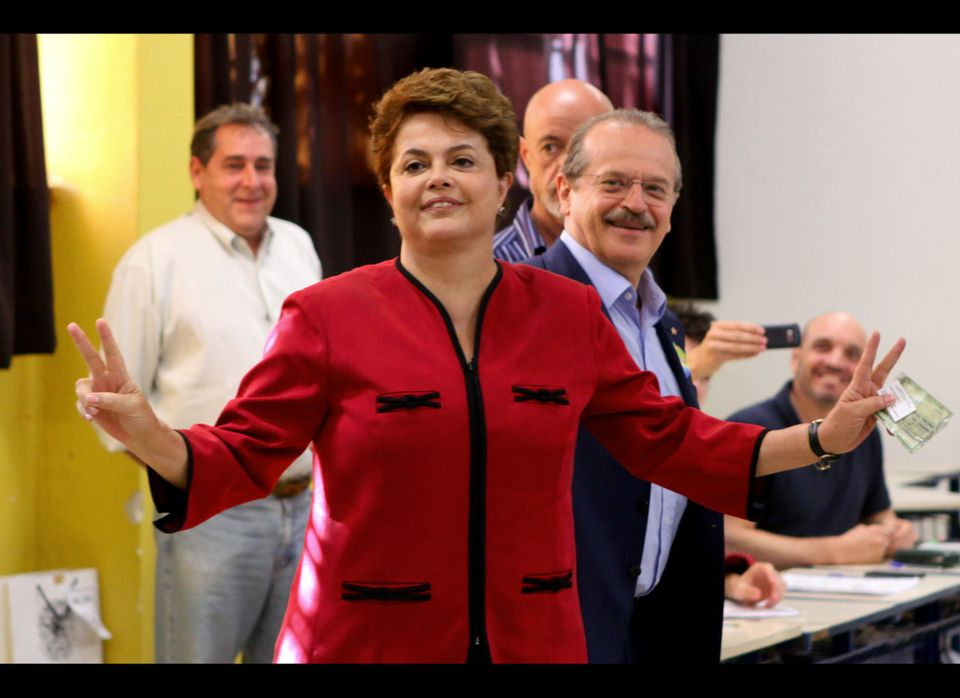 Dilma Rousseff became Brazil's first female president on Sunday, winning 56 percent of her country's vote. Rousseff — Preside