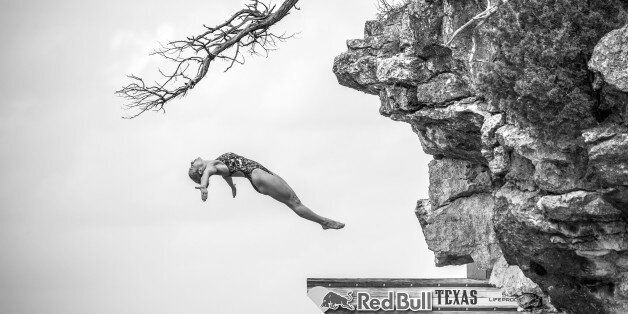 POSSUM KINGDOM LAKE, TEXAS - MAY 28:  (EDITORIAL USE ONLY) In this handout image provided by Red Bull, Lysanne Richard of Can