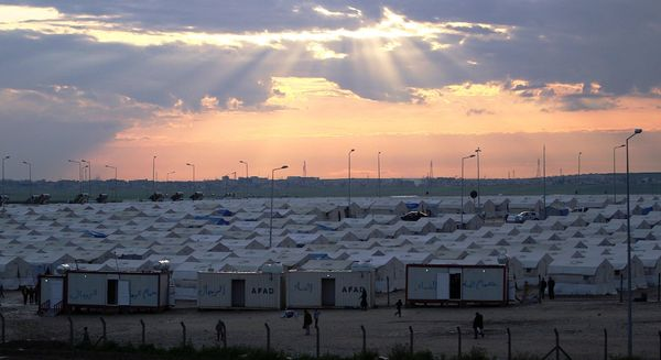 A camp for those displaced by ISIS in Dohuk, Northern Iraq