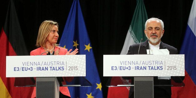 European Union High Representative for Foreign Affairs Federica Mogherini and Iranian Foreign Minister Mohammad Javad Zarif,